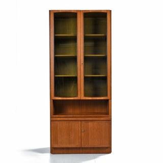 Two-Piece German Modern Teak Display China Hutch Cabinet by Bartels Möbelstück Preview