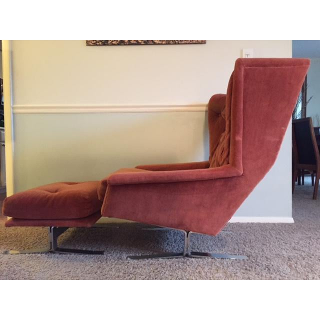 Wingback Chair With Ottoman by Adrian Pearsall - Image 2 of 8