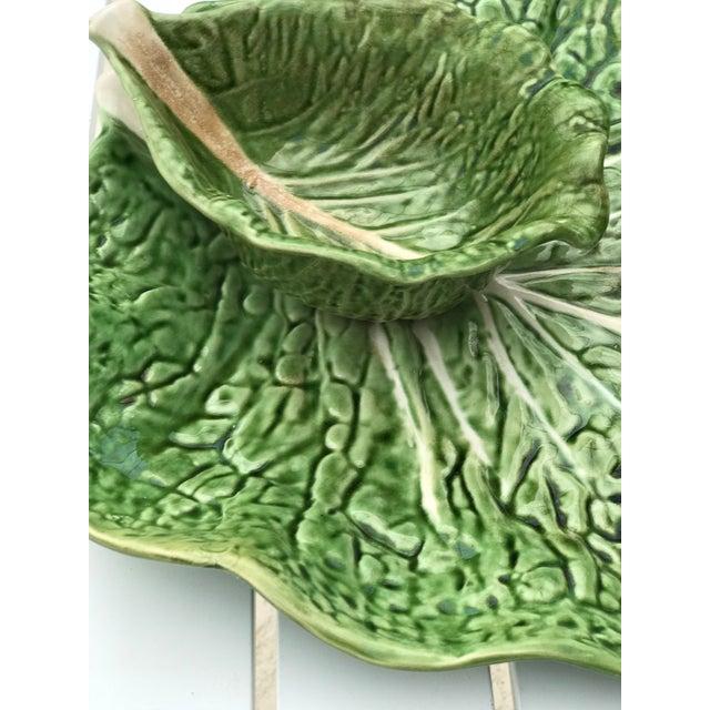 Cottage Portugal Cabbage Ware Serving Platter For Sale - Image 3 of 11
