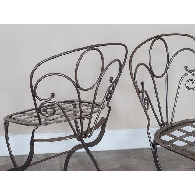 French Metal Garden Furniture Superb pair vintage french folding steel garden chairs circa 1940 pair vintage french folding steel garden chairs circa 1940 image 6 of 8 workwithnaturefo