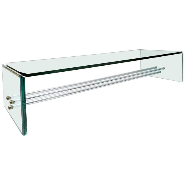 Brass Large Glass Coffee Table by Fontana Arte For Sale - Image 7 of 7