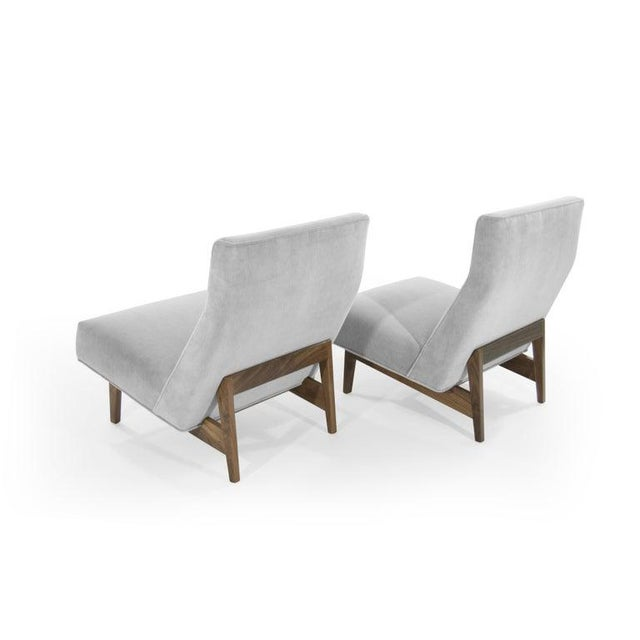 Wood Classic Slipper Chairs by Jens Risom, Circa 1950s - a Pair For Sale - Image 7 of 13