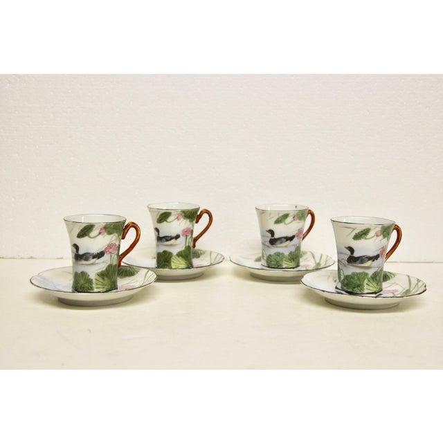 Japanese Porcelain Chocolate Set, 10 Pcs For Sale - Image 4 of 6