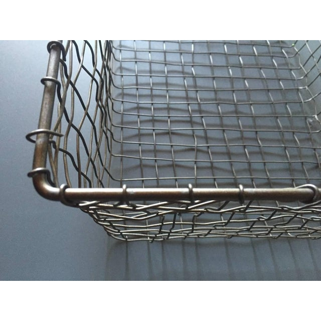 French Wire Vintage Style Market Baskets- Set of 3 - Image 6 of 11
