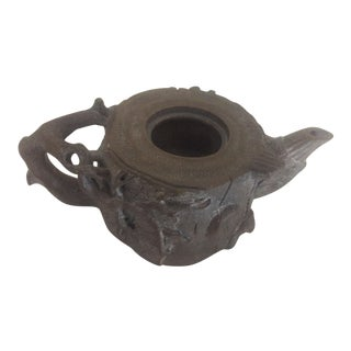 19th Century Antique Wood Form Yixing Teapot For Sale