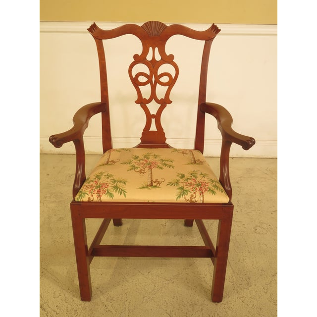 Cherry Dining Room Furniture: Eldred Wheeler Cherry Chippendale Dining Room Chairs
