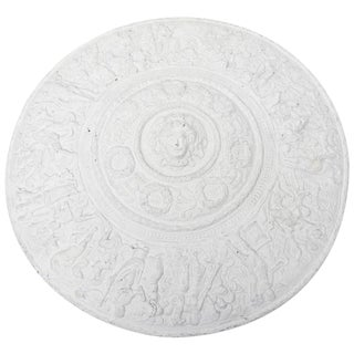 Versace Attribtion White Plaster over Resin Medallion Relief Wall Sculpture For Sale