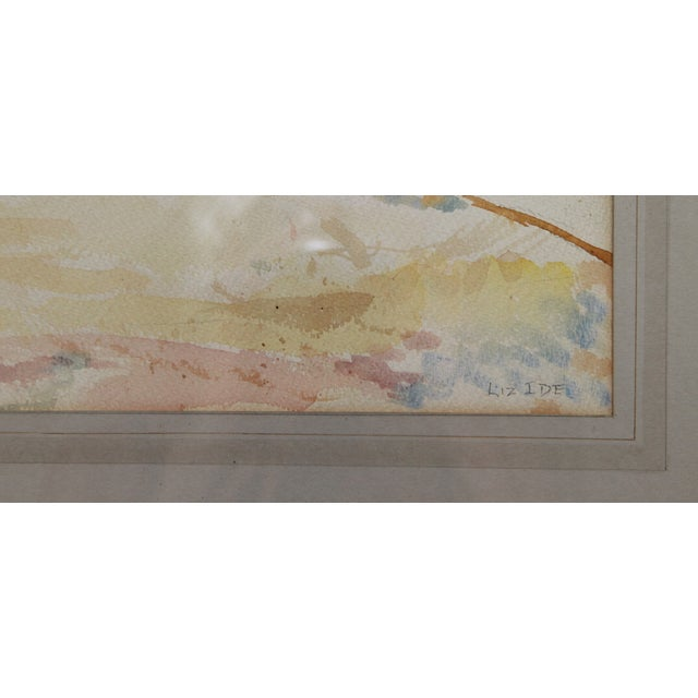 Mid-Century Seascape Watercolor by Liz Ide - Image 5 of 9