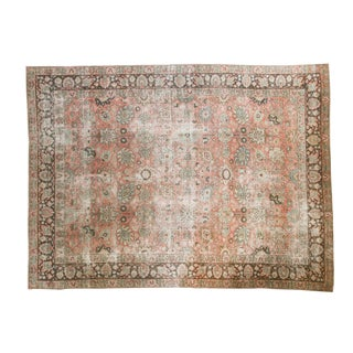 "Vintage Distressed Tabriz Carpet - 7'7"" X 10'3"""