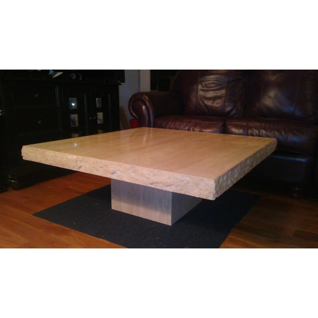 Italian Travertine Coffee Table - Image 2 of 4