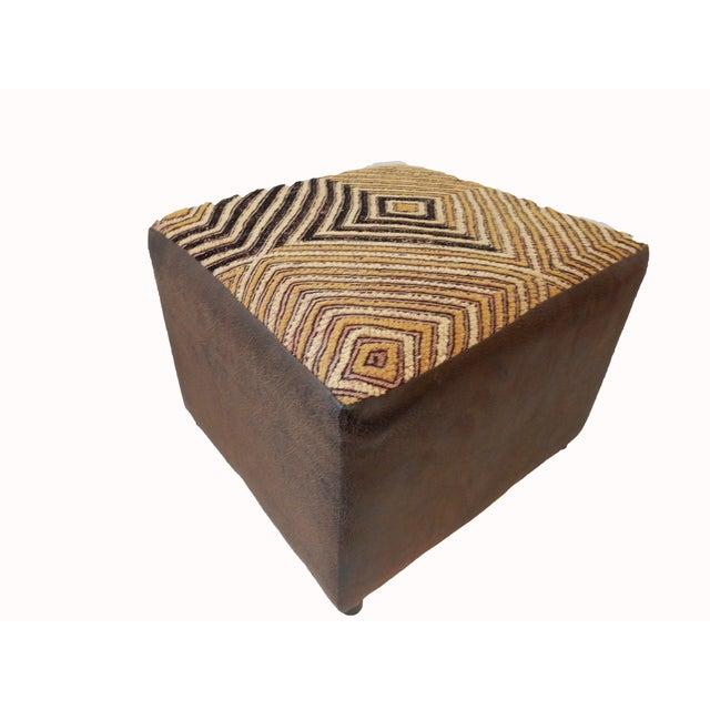Kuba Textile Ottoman For Sale - Image 5 of 8