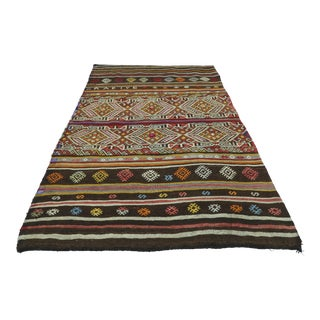 Vintage Turkish Kilim Rug-3′7″ × 5′ For Sale