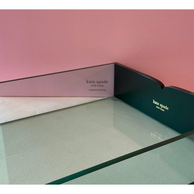 Green Kate Spade Green Lucite Desk Tray For Sale - Image 8 of 11