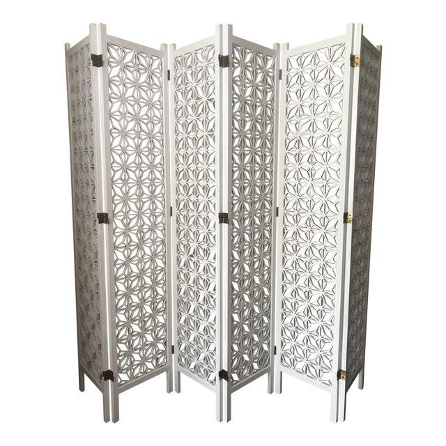 e3d4d6286594 Mid Century Teak Wood 6 Panel Room Screen Divider For Sale