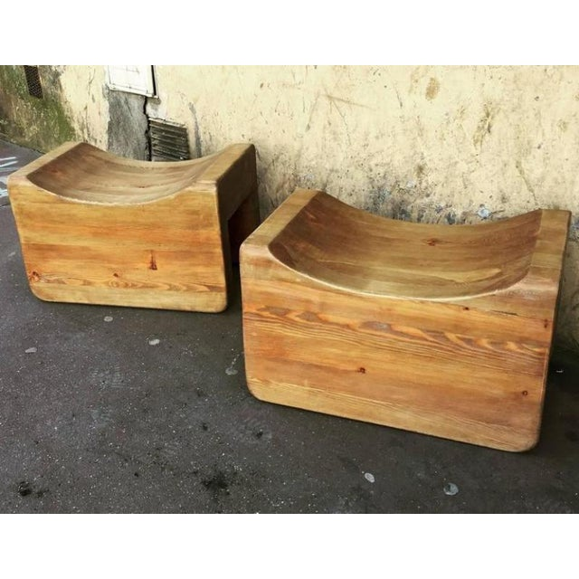 Axel Einar Hjorth Axel Einar Hjorth Rare Pair of Stools Model Uto in Vintage Condition For Sale - Image 4 of 5