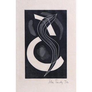 """John Tandy, """"Untitled 4"""", Abstract Woodcut For Sale"""