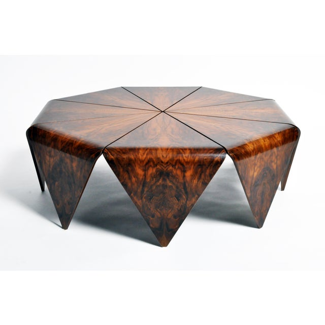 Wood Hungarian Walnut Octagonal Coffee Table For Sale - Image 7 of 13