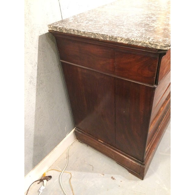 Louis Philippe Three Drawer Desk Commode For Sale - Image 10 of 11