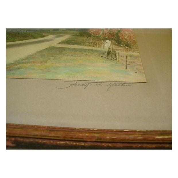 Original vintage hand-tinted colored photograph using soft pastel colors by California and Southwest photographer...