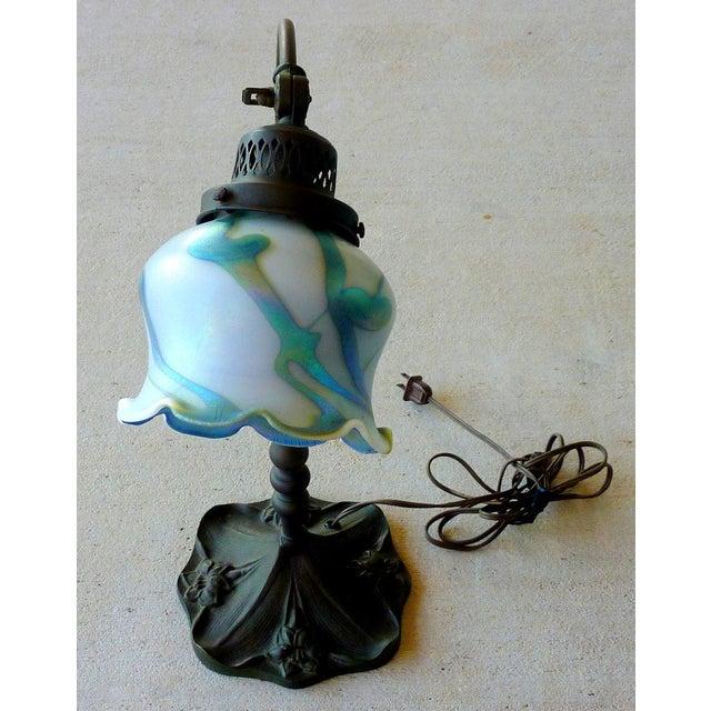 Bronze Art Glass Lamp - Image 3 of 7