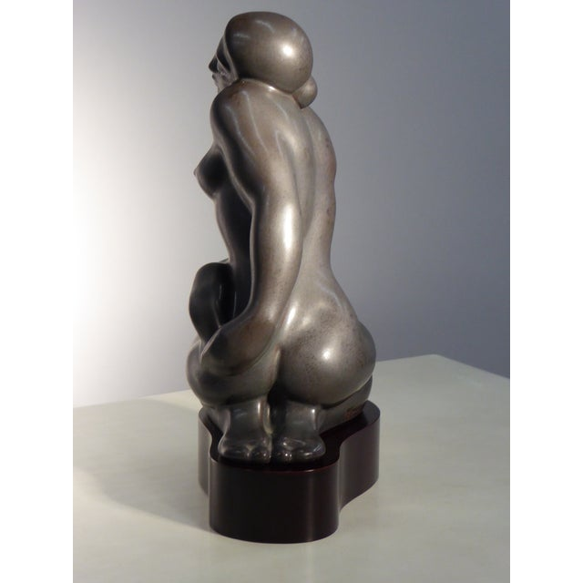 1982 Lladró Limited Edition Gres Porcelain Sculpture AMANECER by Alfonso Pérez For Sale In Miami - Image 6 of 13