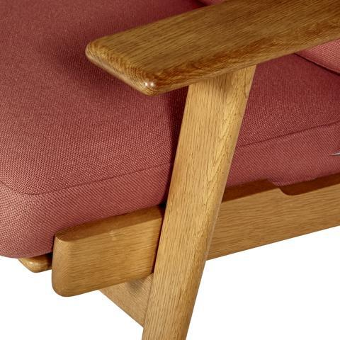 Hans J. Wegner for GETAMA Three Seat Sofa in Oak GE 290 - Image 8 of 10