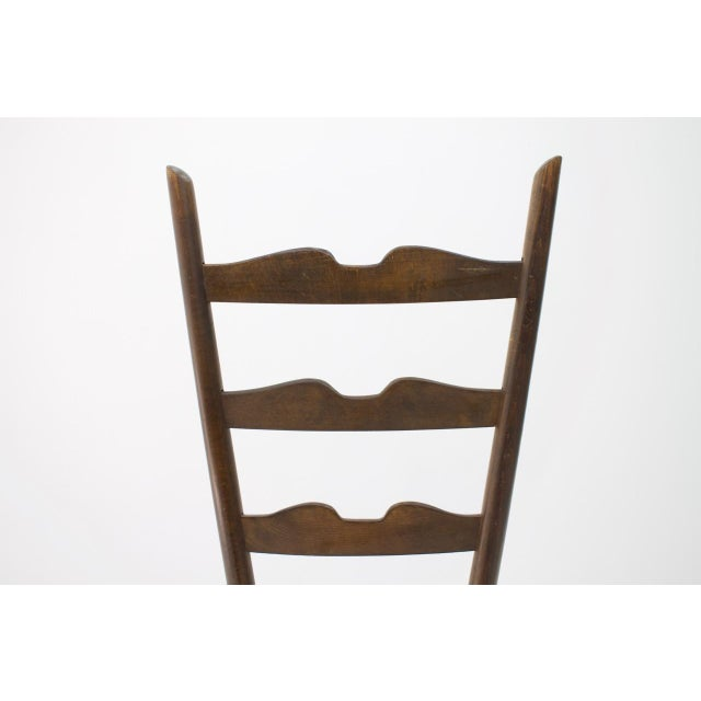 Brown Gio Ponti Fire Side Chair, Italy, 1939 For Sale - Image 8 of 11