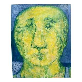 1968 James Bone Portrait Oil Painting the Graduate Key West For Sale