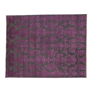Victorian Style Damask Area Rug For Sale