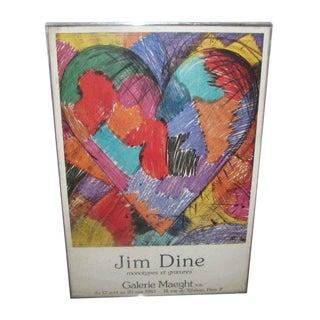 Gallery Maeght, Paris Jim Dine Exhibit Poster For Sale