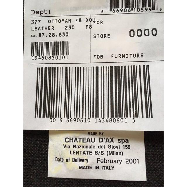Italian Chateau D Ax Spa Black Leather 4 Piece Sofa