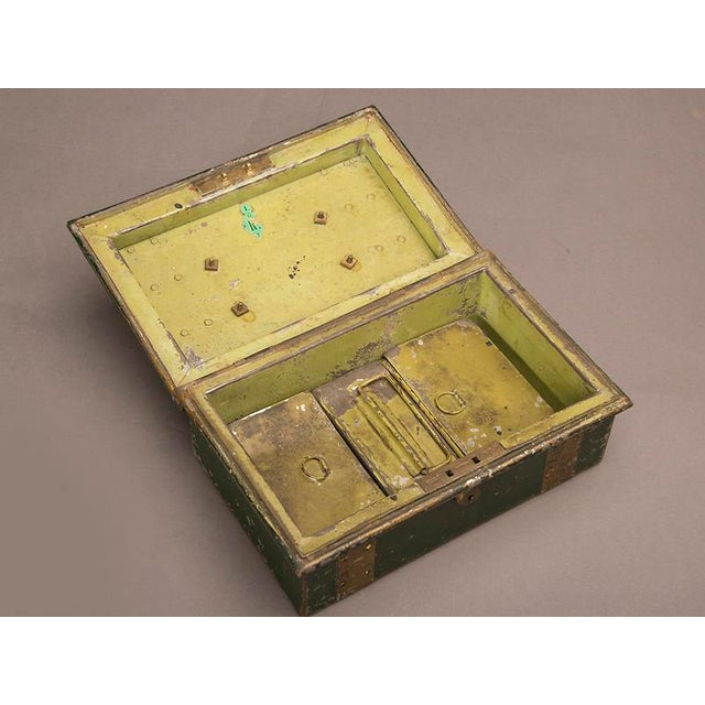 """Metal Street Vendor's """"Cash"""" Hinged Metal Box, Painted Finish, England c. 1890 For Sale - Image 7 of 8"""