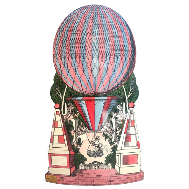 Mid-Century Hollywood Regency, Fornasetti Umbrella Stand, Hot Air Balloon Motif For Sale - Image 11 of 11