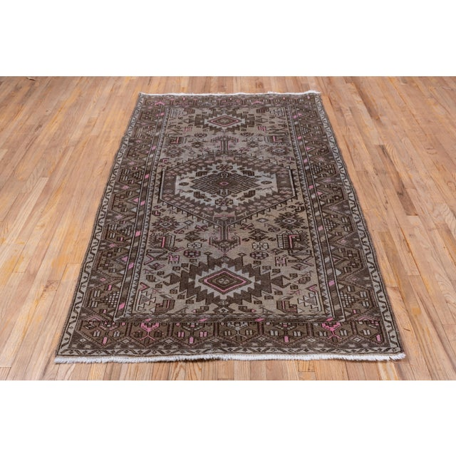 1940s Vintage Hamadan Rug- 4′4″ × 7′7″ For Sale - Image 4 of 8