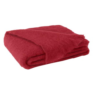 Scarlet Brushed Mohair Throw For Sale