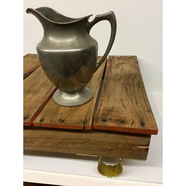Boho Chic Low Reclaimed Hardwood Meditation Table For Sale - Image 12 of 13