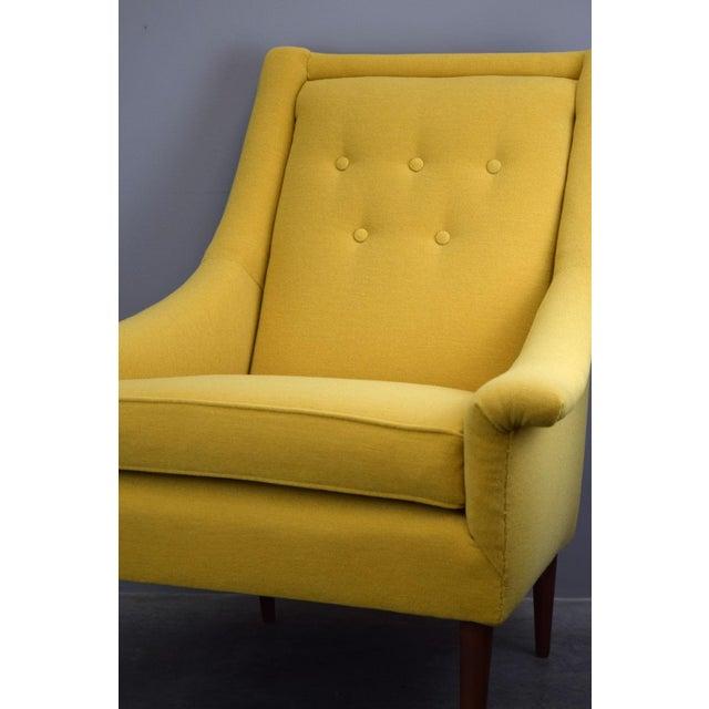Refurbished Mid-Century Lounge Chair in Maharam Kvadrat Voyage - Image 7 of 7