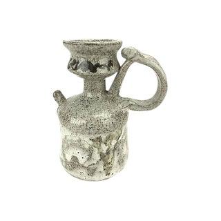 1960s Mid-Century Modern Hand-Thrown Stoneware Drip Glaze Vessel