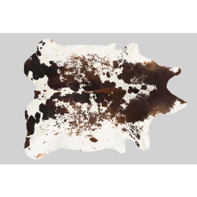 Contemporary Spotted Genuine Brazilian Cowhide - 6′10″ × 7′2″ For Sale - Image 3 of 3