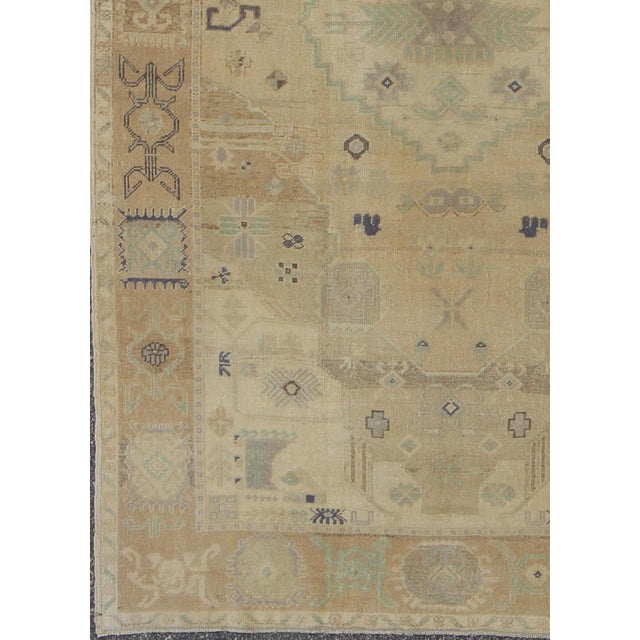 Vintage Muted Turkish Oushak For Sale - Image 4 of 8