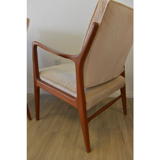 Danish Modern Lounge Chairs in Velvet - A Pair - Image 4 of 6