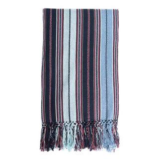 Guatemalan Indigo Striped Blanket