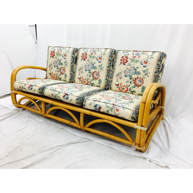 Ficks Reed, Vintage, Mid Century Modern Rattan Sofa. Looks awesome with colorful and/or patterned cushions. Seat Height...