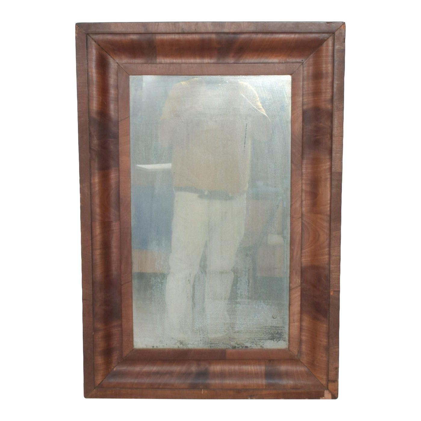 Antique Art Deco Wall Mirror Framed In Rosewood Vintage Patina Chairish