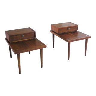 1950s Mid Century Modern American of Martinsville End Tables - a Pair For Sale
