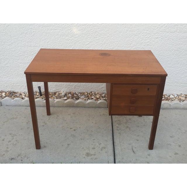 Mid-Century Danish Modern Teak Desk - Image 3 of 11