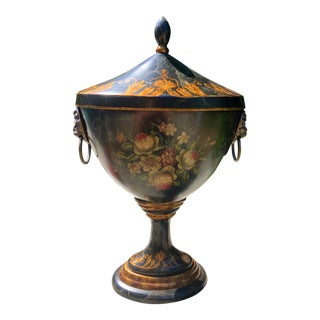 1960s Regency Style Covered Tole Urn