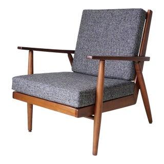 Mid-Century Modern Walnut Lounge Chair For Sale