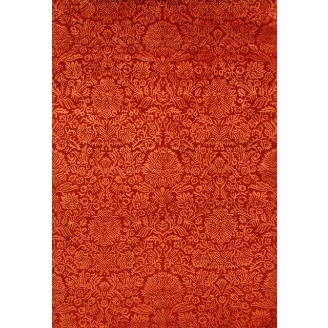 Damask Tabriz Silk & Wool Area Rug