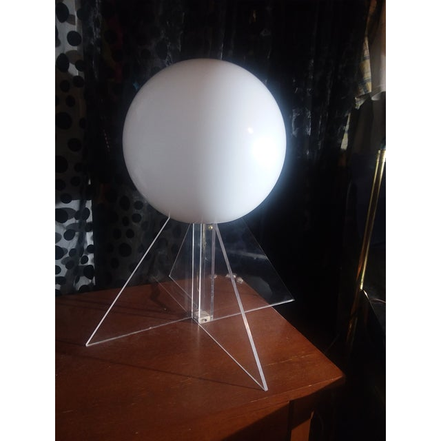Mid-Century Modern Mid Century Plexi Globe Table/Floor Lamp For Sale - Image 3 of 10